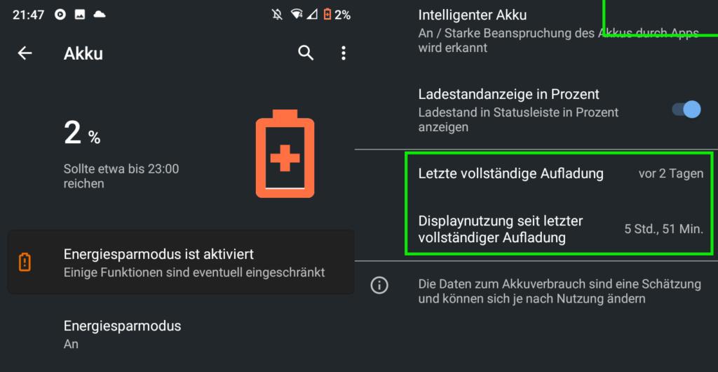 Nokia 5.3 Akkulaufzeit.