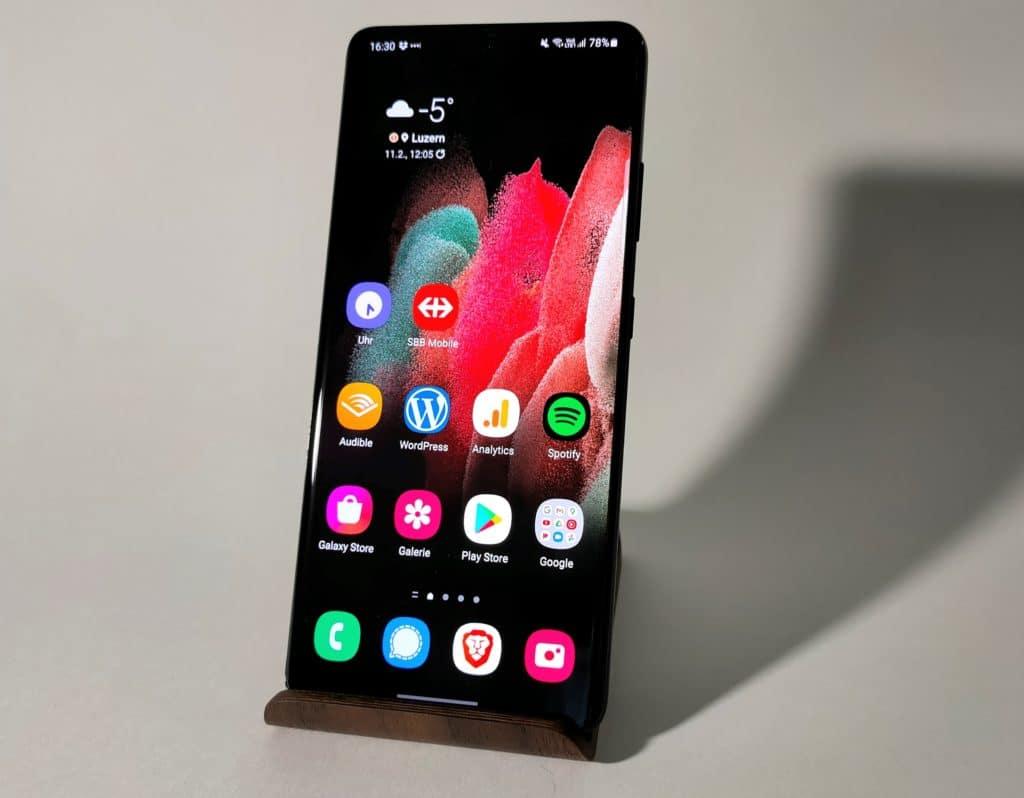 Samsung Galaxy S21 Ultra Test Display