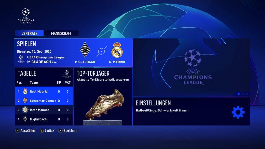 Die Champions League ist ebenfalls bei FIFA 21 dabei.