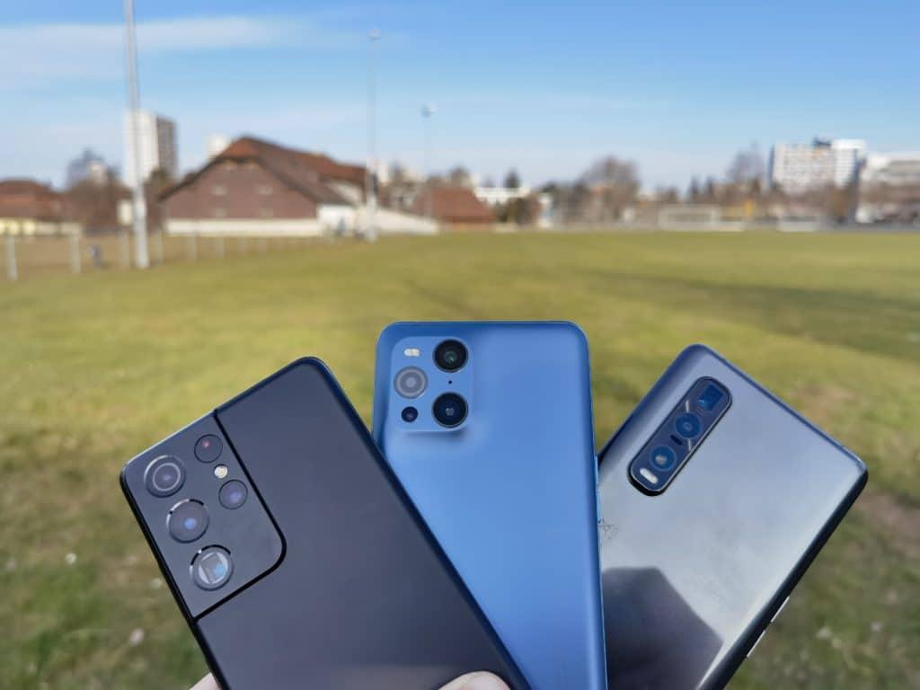 Samsung Galaxy S21 Ultra, Oppo Find X3 Pro und Find X2 Pro