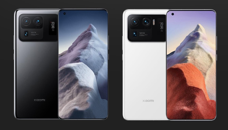 Xiaomi Mi 11 Ultra Schwarz und Weiss