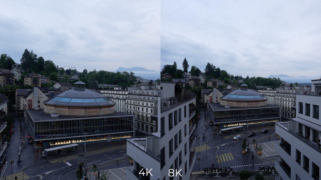 Sony Alpha 1: Vergleich von 4K und 8K.