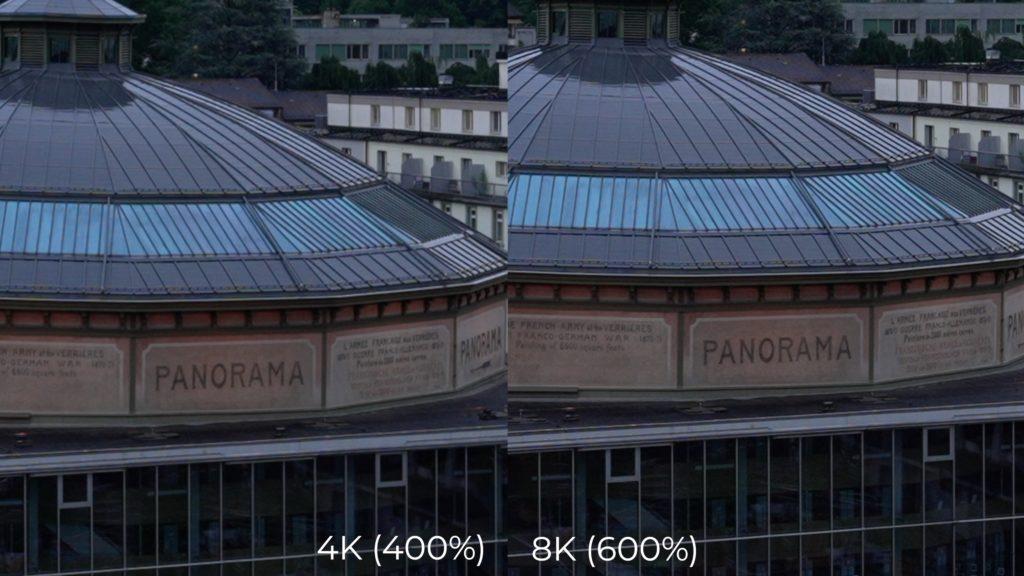 Sony Alpha 1: Vergleich von 4K und 8K mit Zoom.