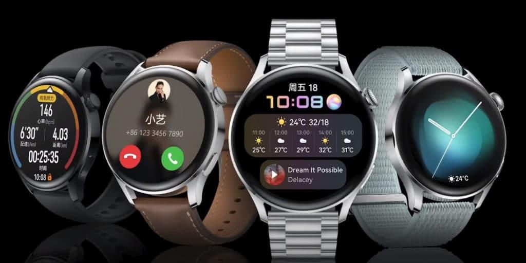 Huawei Watch 3 verschiedene Armbänder.