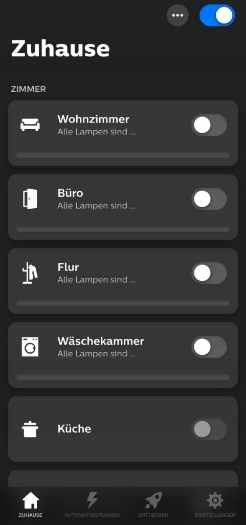 Neue Hue-App mit überarbeitetem Design
