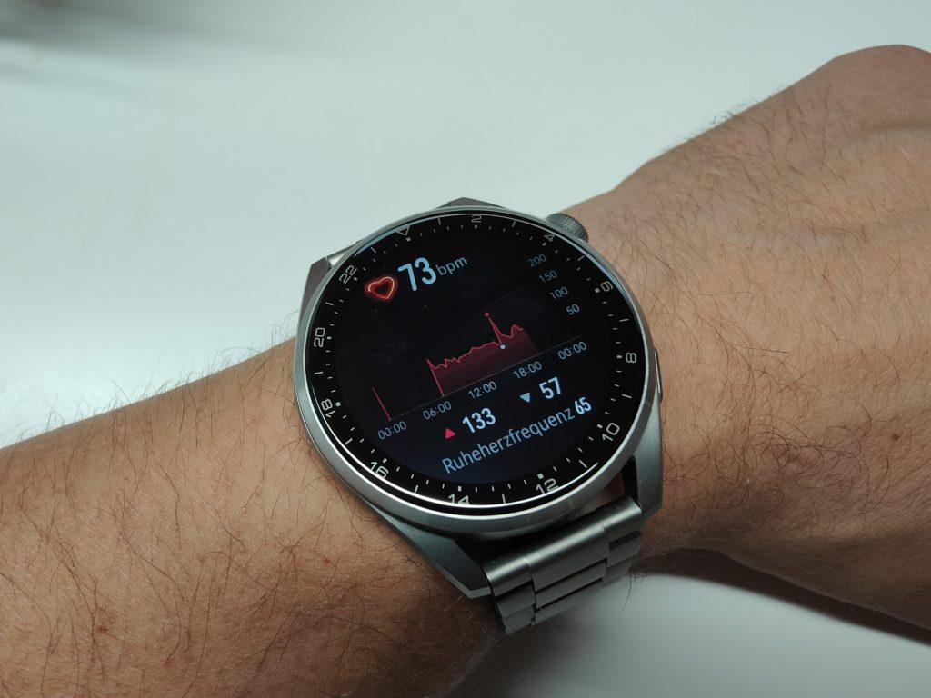 Huawei Watch 3 Pro Herzfrequenz