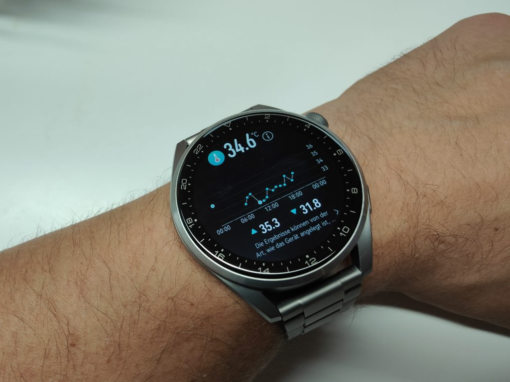 Huawei Watch 3 Pro Temperaturmessung