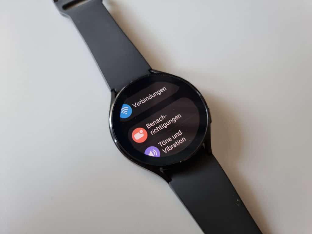 Samsung Galaxy Watch4 Einstellungen