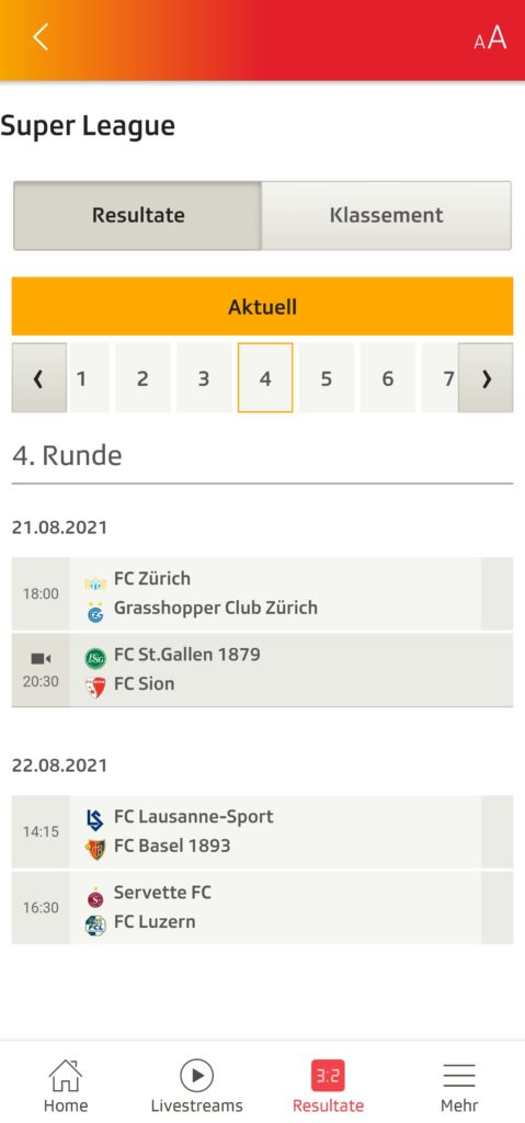 SRF Sport-App