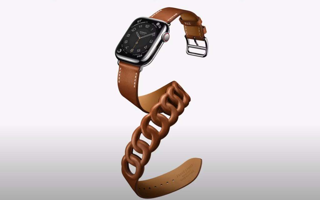 Apple Watch 7: Double Tour Band von Hermes.