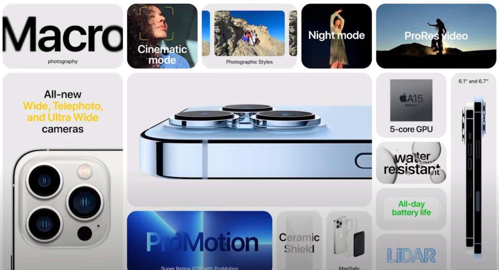Appel iPhone 13 Pro Max: Datenblatt.