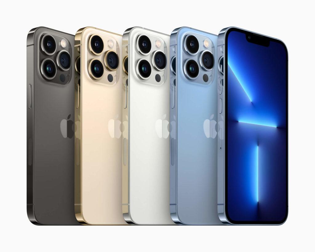 Apple iPhone 13 Pro und iPhone 13 Pro Max: Erhältliche Farben.