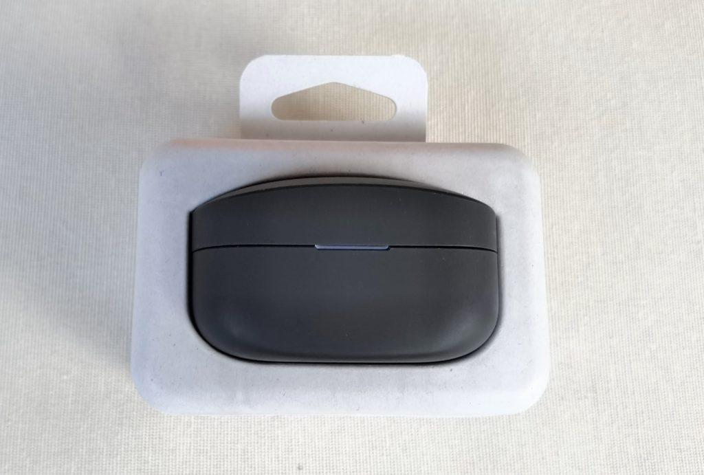 Sony WF-1000XM4 Kopfhörer im Test: Verpackung geöffnet.