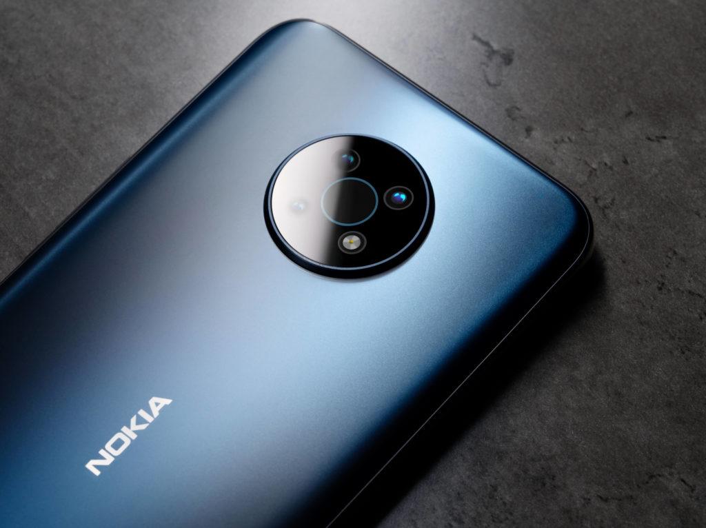 Nokia G50 in Ocean Blue.