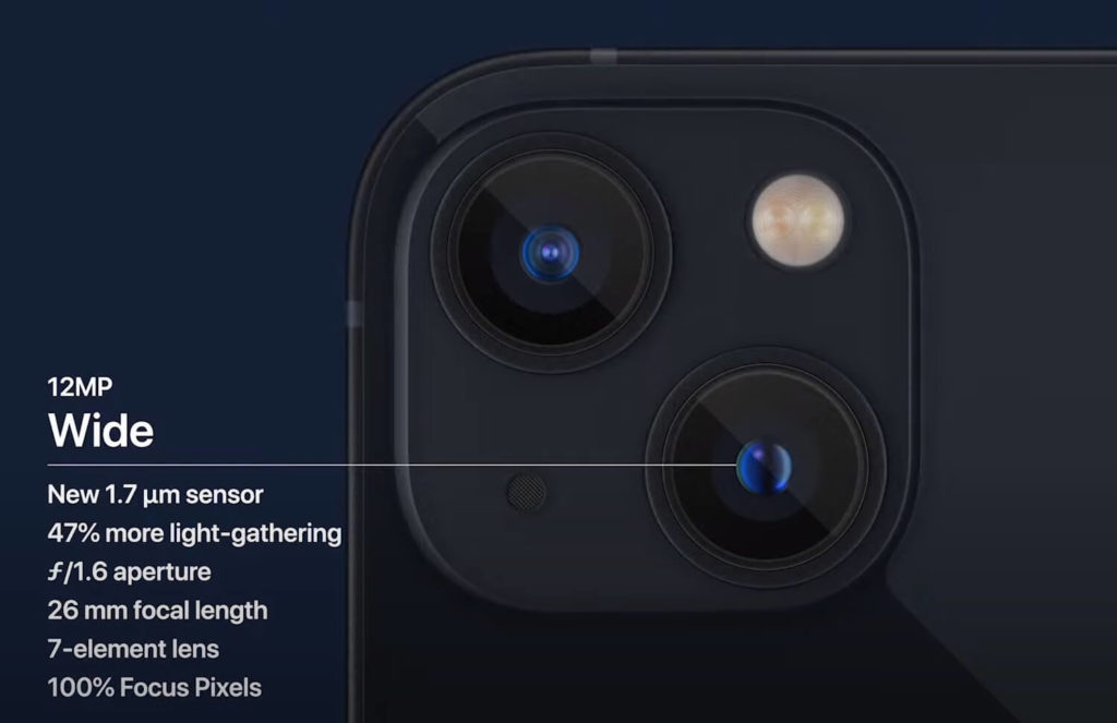 iPhone 13 und iPhone 13 Mini: Weitwinkelkamera.