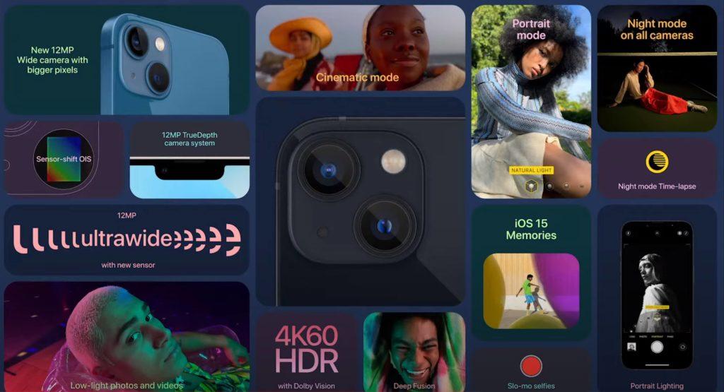 iPhone 13 und iPhone 13 Mini Kameradaten.