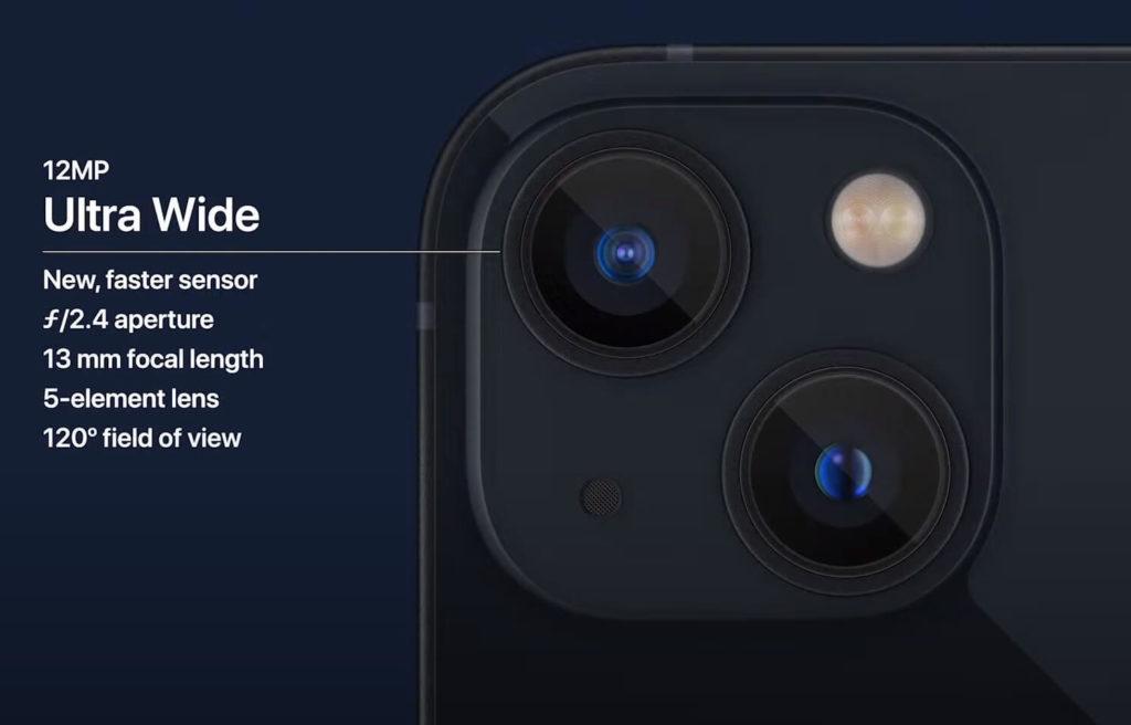 iPhone 13 und iPhone 13 Mini: Ultraweitwinkelkamera.