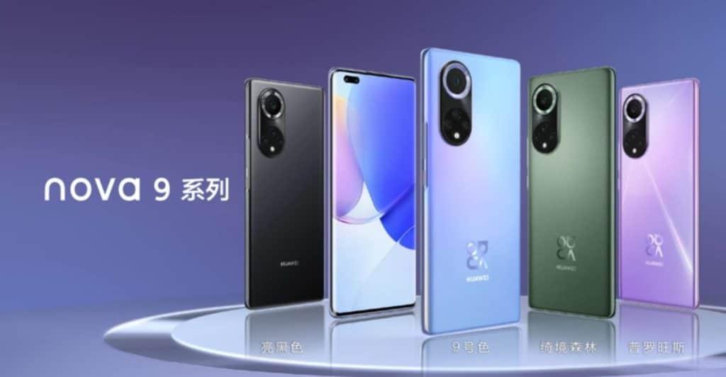 Huawei Nova 9 Smartphone mit 100 Watt Ladetechnik und HarmonyOS.