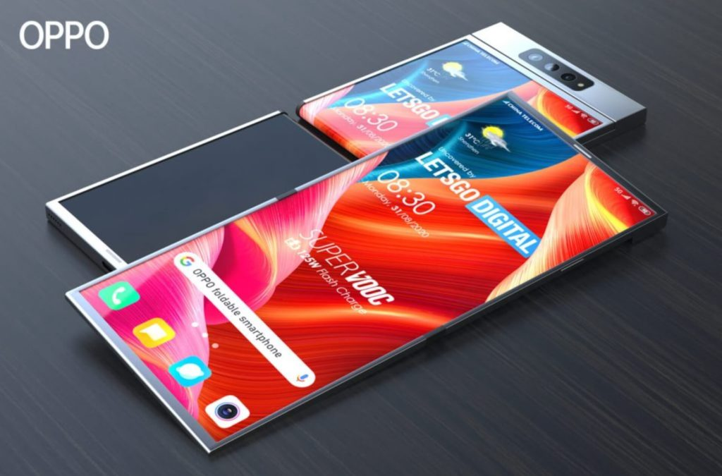 Oppo Falt-Smartphone: Konzeptbild von LetsGoDigital.
